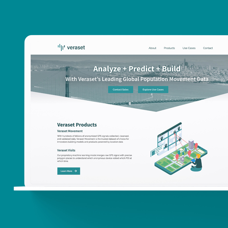 RDG worked closely with the team at Veraset to reimagine their corporate website