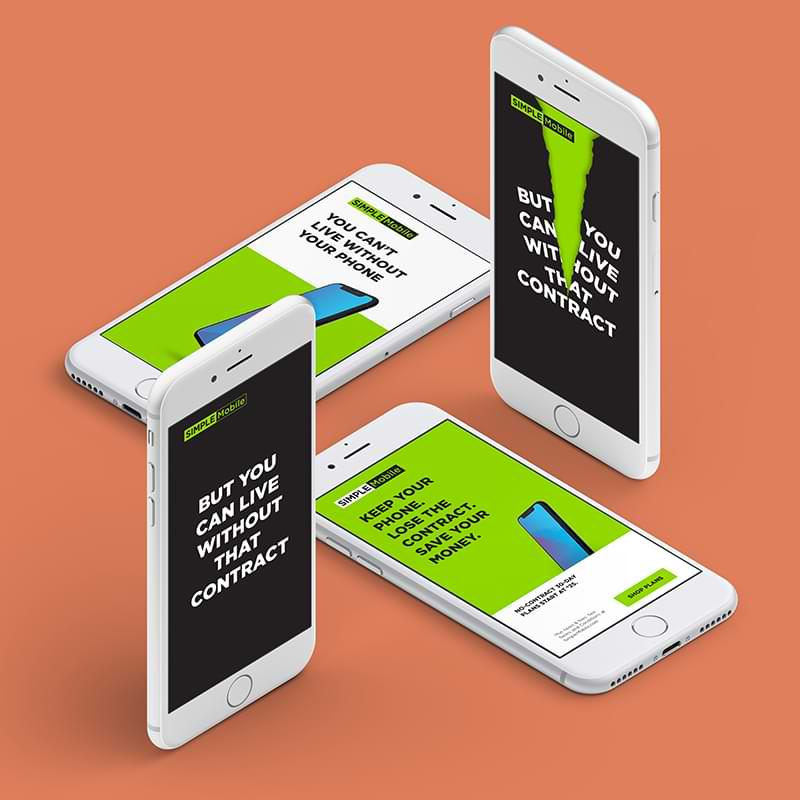 RDG partnered with HUGE ATL to produce hi-volume and hi-impact digital banner ads for tracfone